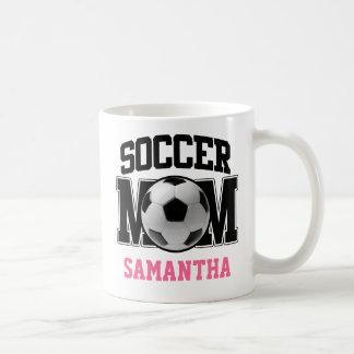 Mamá del fútbol taza clásica