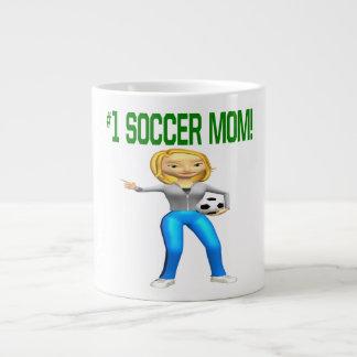 Mamá del fútbol tazas jumbo