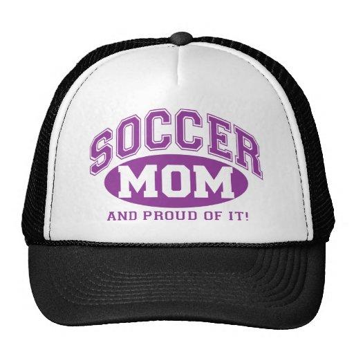 ¡Mamá del fútbol y orgulloso de él! - Púrpura Gorra