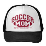 ¡Mamá del fútbol y orgulloso de él! - Rojo Gorros