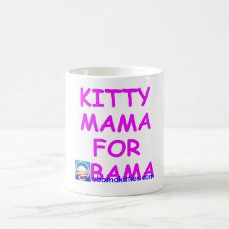 Mamá del gatito para Obama Taza Clásica