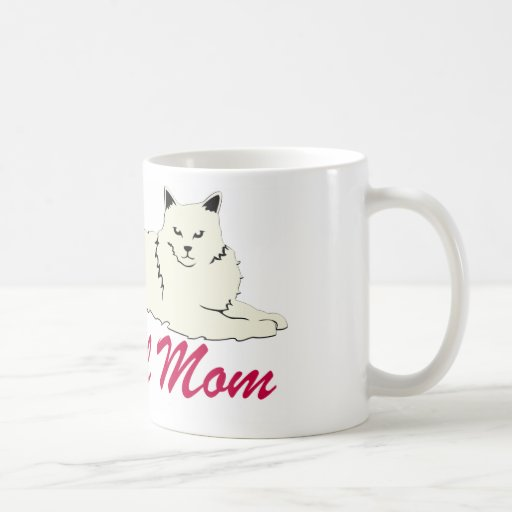 Mamá del gato de Ragdoll Tazas De Café