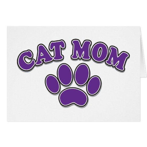 Mamá del gato del día de madre tarjeta de felicitación