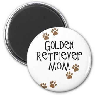 Mamá del golden retriever imán para frigorífico