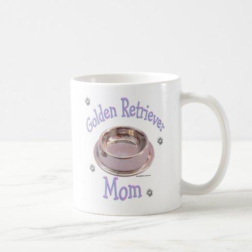 Mamá del golden retriever taza clásica