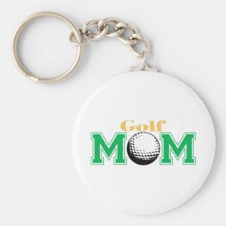 Mamá del golf llavero personalizado