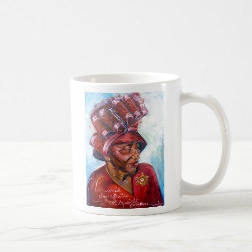 Mamá del gorra de la iglesia taza de café