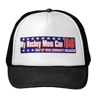 Mamá del hockey contra organizador de la comunidad gorro