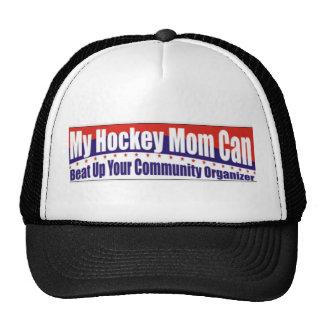 Mamá del hockey contra organizador de la comunidad gorras