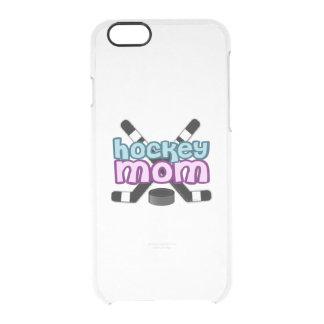 Mamá del hockey funda clearly™ deflector para iPhone 6 de uncommon