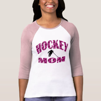 Mamá del hockey camiseta