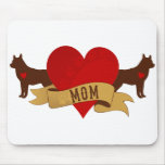 Mamá del husky siberiano [estilo del tatuaje] tapete de raton