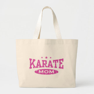 Mamá del karate bolsa tela grande