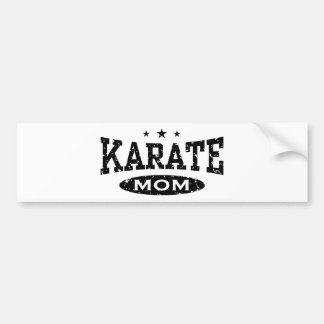 Mamá del karate pegatina para auto