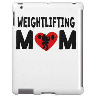 Mamá del levantamiento de pesas funda para iPad