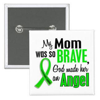 Mamá del linfoma de Non-Hodgkins del ángel 1 Pin Cuadrado