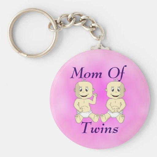 Mamá del llavero gemelo de los bebés