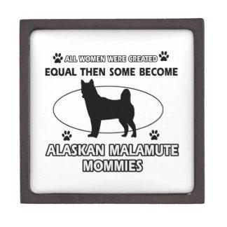 Mamá del Malamute de Alaska Caja De Regalo De Calidad