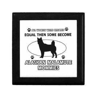 Mamá del Malamute de Alaska Cajas De Recuerdo