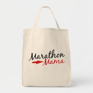 Mamá del maratón bolsa tela para la compra