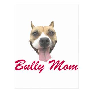 Mamá del matón de la sonrisa del pitbull tarjeta postal