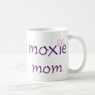 Mamá del Moxie Taza Básica Blanca