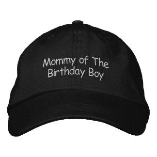 Mamá del muchacho del cumpleaños gorros bordados