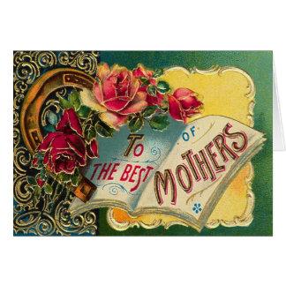 Mamá del mundo floral del vintage la mejor tarjetas