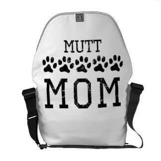 Mamá del Mutt (apenada) Bolsa De Mensajería