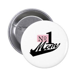 Mamá del número uno pins