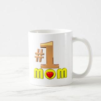 Mamá del número uno taza clásica