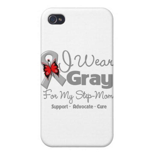 Mamá del paso - conciencia gris de la cinta iPhone 4 fundas