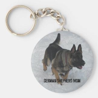 Mamá del pastor alemán llaveros personalizados