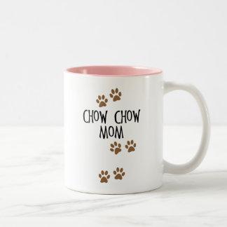 Mamá del perro chino de perro chino taza