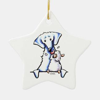 Mamá del perro de Akbash Ornamento Para Arbol De Navidad