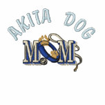 Mamá del perro de Akita Chaquetas Bordadas