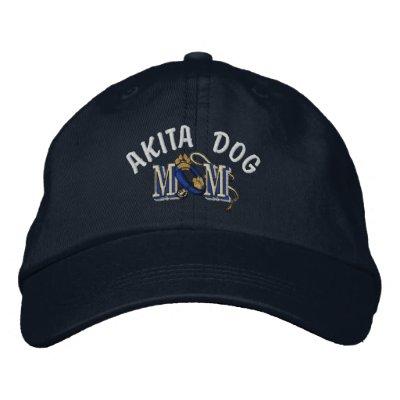 Mamá del perro de Akita Gorra De Béisbol