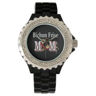 Mamá del perro de Bichon Frise Relojes De Mano