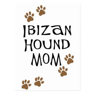 Mamá del perro de Ibizan Tarjeta Postal