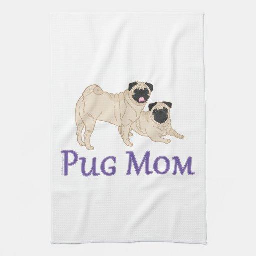 Mamá del perro de los pares del barro amasado toalla