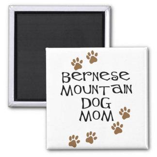 Mamá del perro de montaña de Bernese Imán Cuadrado