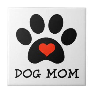 Mamá del perro de Pawprint Teja Ceramica