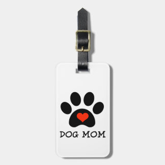 Mamá del perro de Pawprint Etiquetas Bolsas