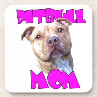 Mamá del perro de Pitbull Posavasos De Bebidas