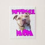 Mamá del perro de Pitbull Puzzle Con Fotos