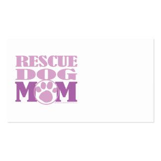 Mamá del perro del rescate tarjetas de visita