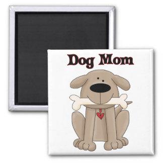 Mamá del perro imán cuadrado