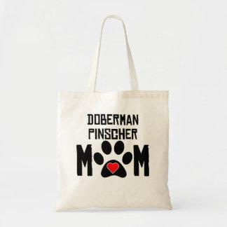 Mamá del Pinscher del Doberman Bolsa De Mano