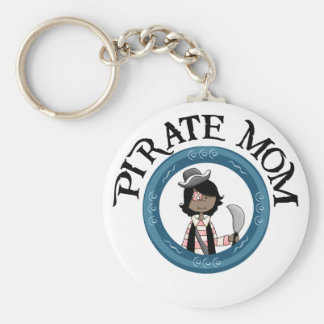 Mamá del pirata llaveros
