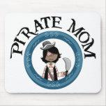 Mamá del pirata tapetes de raton